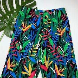 Bob Mackie Wide Leg Capri Pants Stretchy Knit L